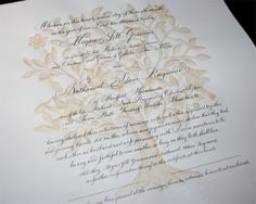Tree of Life marriage certificate Wedding vow certificate