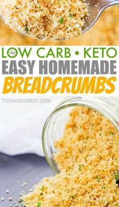 Breadcrumbs for low carb and keto dishes! Easy to make at home. - Low Carb Keto - Ideas of Low Carb Keto - Breadcrumbs for low carb and keto dishes! Easy to make at home. Keto Foods, Ketogenic Recipes, Keto Snacks, Low Carb Recipes, Diet Recipes, Healthy Recipes, Ketogenic Diet, Pork Rind Recipes, Keto Meal