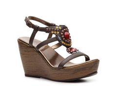 $55 Yellow Box Kady Wedge Sandal Women's Wedge Sandals All Women's Sandals Sandal Shop - DSW