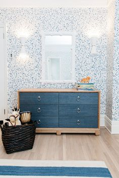 grasscloth chest of drawers