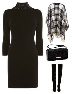 """""""throw n go"""" by im-karla-with-a-k ❤ liked on Polyvore featuring Black, Christian Louboutin and Avenue"""