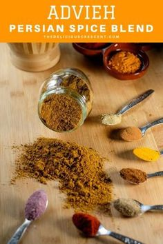Advieh - warm, aromatic and easy homemade Persian spice mixes for spicing up all your delicious Persian recipes. These advieh spice blends are the best ever and quick to make. Easy to store and use for a variety of Persian recipes such as rice pilafs, gri Homemade Spices, Homemade Seasonings, Spice Blends, Spice Mixes, Iranian Food, Iranian Cuisine, Persian Recipes, Middle Eastern Recipes, Seasoning Mixes