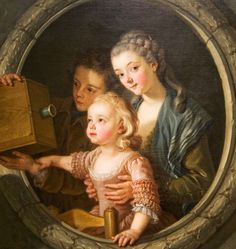 """""""The Camera Obscura,"""" 1764 -- by Charles Van Loo (French, 1705–1765)"""