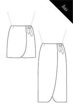 Jupe portefeuille tulipe, patron PDF pour coudre une robe personnalisée Custom Dresses, Unique Dresses, Nativity Costumes, How To Make Skirt, Creation Couture, Bias Tape, Pdf Sewing Patterns, Craft Patterns, Handmade Dresses