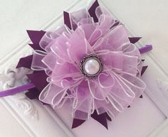 Purple Bow- Headband-One size fits all on Etsy, $12.00