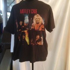 Motley Crue Original 1984 T-Shirt SZ Large Original Crue shirt bought by me in 1984/85. Used quite a bit but still has a lot of life left. Would make a great gift for a fan or for yourself. Save as a collectible. Just an awesome shirt. Size is large. Tops Tees - Short Sleeve