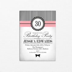Invitation party printable adult