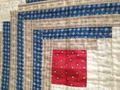 Detail, I'm thinking the gray print is fussy cut :  Rare Antique Quilt 1800's - Beautiful Vintage Americana - Red White and Blue | eBay, dirtyhairy2