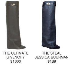 MAMMA TUPPY: FOLD OVER BOOTS: GIVENCHY vs JESSICA BUURMAN