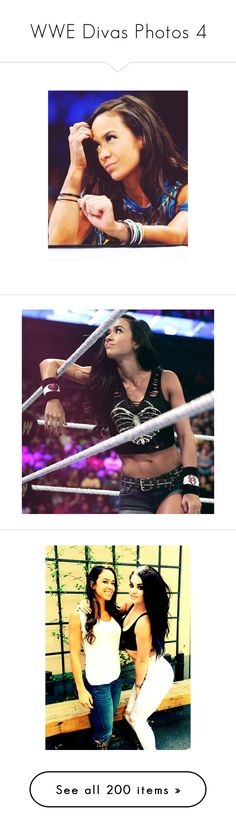"""WWE Divas Photos 4"" by lonely-wrestling-fan ❤ liked on Polyvore featuring aj lee, paige, nxt guys and girls, alicia fox, the bella twins, wwe, accessories, home, home decor and wwe diva"