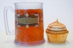 Harry Potter inspired Butterbeer cupcakes