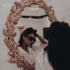 Do this picture in detailed mirror w cool triangular sunglasses
