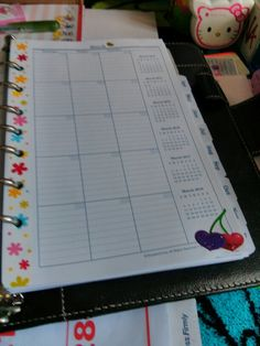 One of the other pages from my franklin planner.