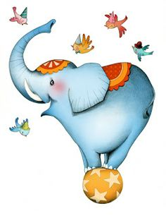 Circus Cartoon Elephant Animal Images Are Free To Copy For Your Own Personal Use.All Images Are On A Transparent Background Circus Art, Circus Theme, Elephant Love, Elephant Art, Image Cirque, Desenho Tattoo, Art And Illustration, Sticker Design, Art For Kids