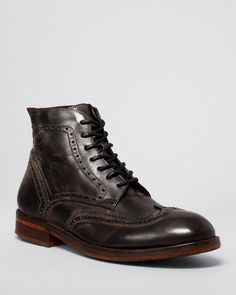 H by Hudson Anderson Leather Wingtip Boots   Bloomingdale's