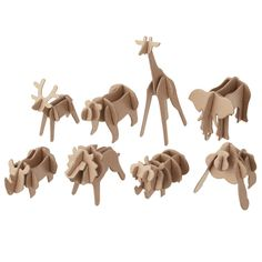 Press out safari animals set