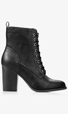 Lace-up Heeled Boot | Express