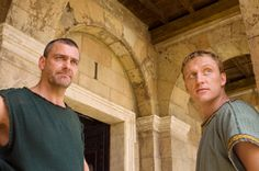 Rome - Lucius Vorenus and Titus Pullo Rome Costume, Rome Tv Series, Kevin Mckidd, Ray Stevenson, James Purefoy, British American, Ancient Rome, Drama Movies, Old World