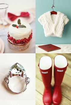 Red and white pieces, perfect for a winter wedding at Harewood
