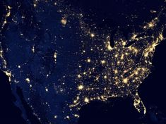"""See amazing photos of Earth at night, dubbed the """"Black Marble,"""" as seen by NASA's Suomi NPP satellite. Earth And Space, Cosmos, Ciel Sombre, Earth At Night, Les Satellites, Marbles Images, Nasa Images, Nasa Photos, Nasa Pictures"""
