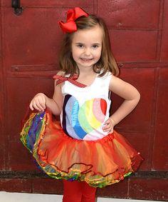 Love this White Rainbow Heart Tank & Rainbow Pettiskirt - Toddler & Girls on #zulily! #zulilyfinds