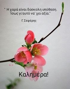 Good Morning Picture, Morning Pictures, Good Morning Quotes, Clever Quotes, Hello Spring, Greek Quotes, Happy Day, Greeting Cards, My Favorite Things