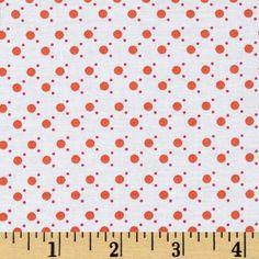 Small Dots White/Orange