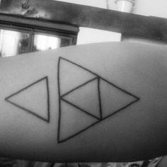 My boyfriend's new tattoo #triangle #tattoo