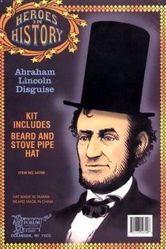 Abraham Lincoln Beard and Hat Kit - Candy Apple Costumes - President's Day Costumes