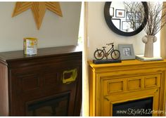 Electric Fireplace Makeover with Contact Paper Marble Hearth ...