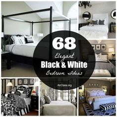 68 elegant black and white bedroom ideas