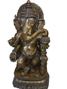 Vintage Lord Ganesha Statue Bronze Garden by MOGULGALLERY on Etsy