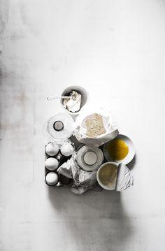 Stylisme culinaire photographie Food Styling Photography White & Butter Création Inspiration Lumière Contraste Couleurs Texture Photographe: j. Ph. Mattern Styliste: Stéphanie Rouffart