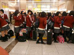 Japanese school uniforms, from flickr