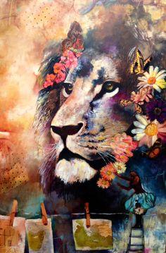 Royal Paths - Original by: Dimitra Milan Dimitra Milan, Lion Art, Expo, Wildlife Art, Animal Wallpaper, Illustrations, Beautiful Paintings, Art Inspo, Creative Art