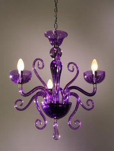 Chandelier in purple