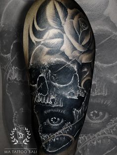 Blackandgrey Skull Tattoo by: Prima #MaTattooBali #SkullTattoo #BlackandgreyTattoo #BaliTattooShop #BaliTattooParlor #BaliTattooStudio #BaliBestTattooArtist #BaliBestTattooShop #BestTattooArtist #BaliBestTattoo #BaliTattoo #BaliTattooArts #BaliBodyArts #BaliArts #BalineseArts #TattooinBali #TattooShop #TattooParlor #TattooInk #TattooMaster #InkMaster #AwardWinningArtist #Piercing #Tattoo #Tattoos #Tattooed #Tatts #TattooDesign #BaliTattooDesign #Ink #Inked #InkedGirl #Inkedmag #BestTattoo… Fine Line Tattoos, Cool Tattoos, Bali Tattoo, Ink Master, Leg Sleeves, Fantastic Art, Piercing Tattoo, Tattoo Shop, Tattoo Studio