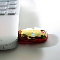 "Marvel Avengers Iron Man USB/""IronMan Mark VI"" Iron Man eyes light up when plugged into a USB port."