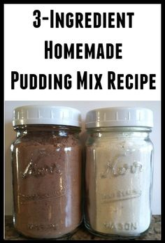 3-Ingredient Homemade Pudding Mix Recipe
