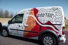 """BVK + Timothy Goodman: CITGO Fueling Good Road Trip """"BVK Milwaukee recently collaborated with Timothy Goodman on the CITGO Fueling Good Road Trip, which aims to promote CITGO through the good things they're """"fueling"""" in communities around the country. BVK commissioned Timothy to design the van wrap that is taking them on their journey."""" - designworklife"""