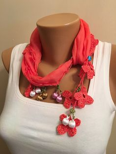 A personal favorite from my Etsy shop https://www.etsy.com/listing/259528350/tukish-oya-scarfpomegranate-crochet-edge