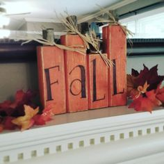 Pumpkins tend to be wonderful circular, brilliant red, and in autumn they mustn't be missing particularly on Halloween. Fall Wood Crafts, Wood Block Crafts, Wood Blocks, Fall Wood Projects, Rustic Crafts, Autumn Crafts, Wooden Crafts, Rustic Decor, Craft Projects