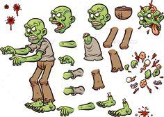 Cartoon Zombie - Monsters Characters Download here : https://graphicriver.net/item/cartoon-zombie/19810122?s_rank=135&ref=Al-fatih