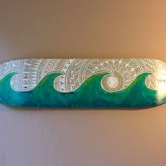 Tidal Wave  Painted Skateboard Deck by TheSeekerShop on Etsy