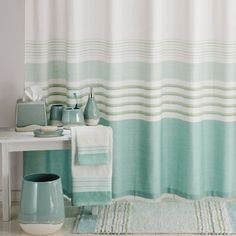 Aqua Spa Shower Curtain Ensemble By Saturday Knight Ltd.: BedBathHome.Com