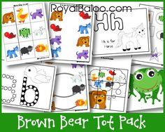 Brown Bear Tot Pack free printable pack