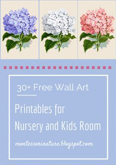 Montessori Nature: 30+ Free Wall Art Printables for Nursery and Kids Room. KLP Linky Party