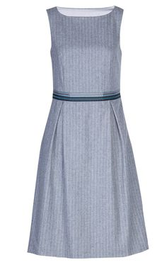 Shift Dress Audrey in Flannel Pinstripe I love the charming ribbon detail.