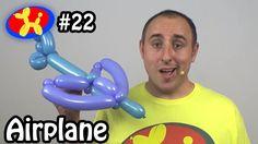 Two Balloon Airplane - Balloon Animal Lessons #balloon #twisting