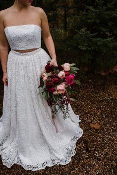 lace two-piece dress